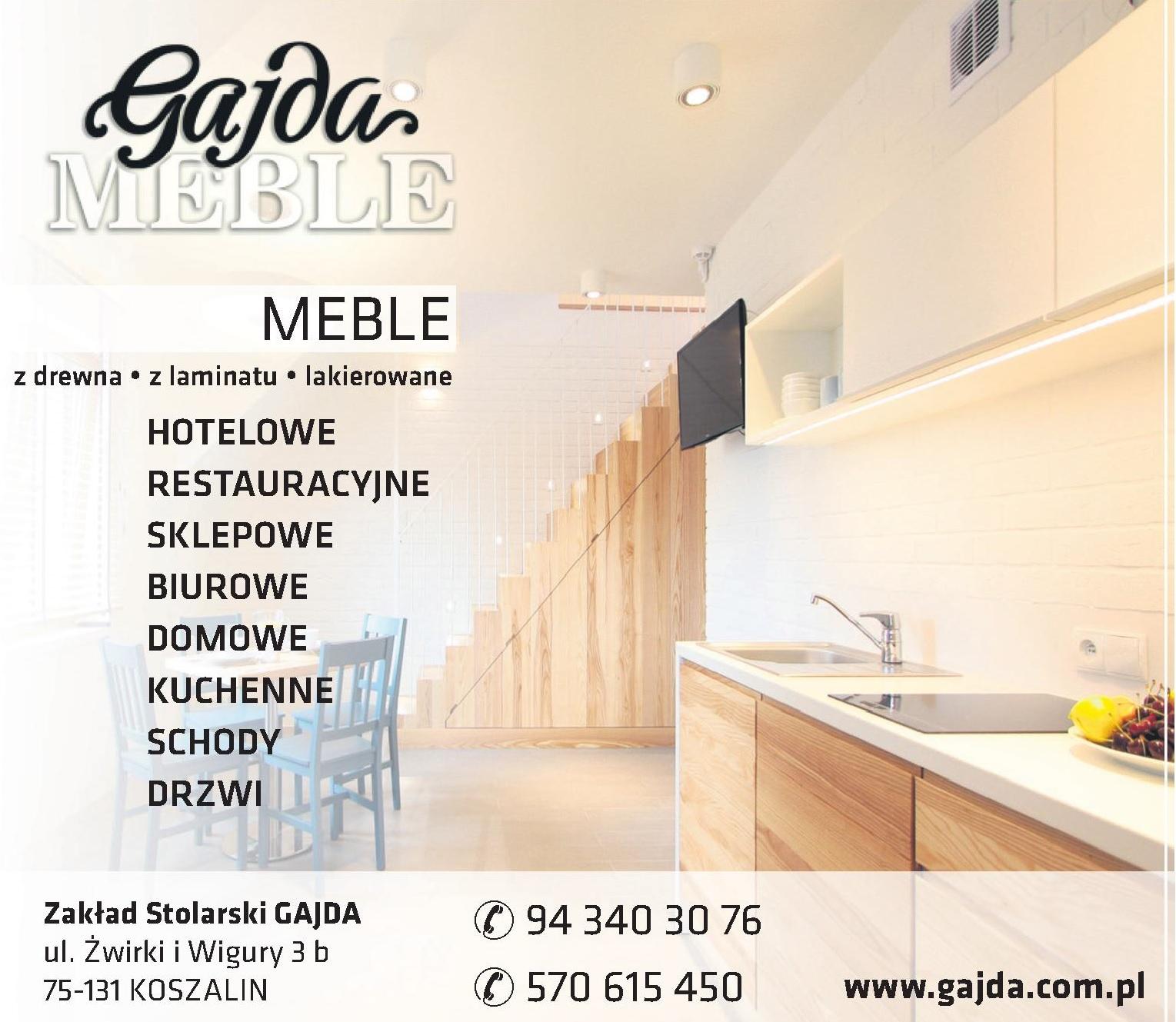 Hotelowe Meble na wymiar - Zakład Stolarski GAJDA Koszalin