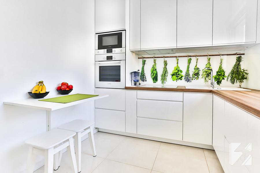 Lepsze niż Agata meble ! Kuchnia na wymiar z grafiką na szkle od 3TOP Meble -> Projekt Kuchni Agata Meble