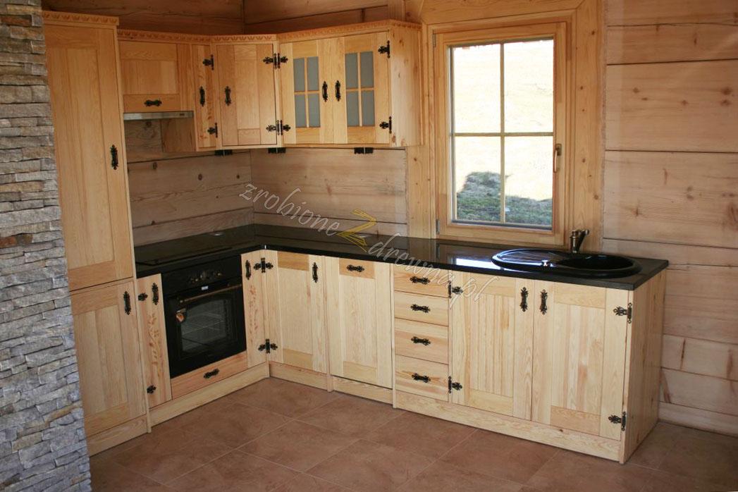 Kuchnia Drewniana W Stylu Góralskim Z Litego Drewna Od Woodica