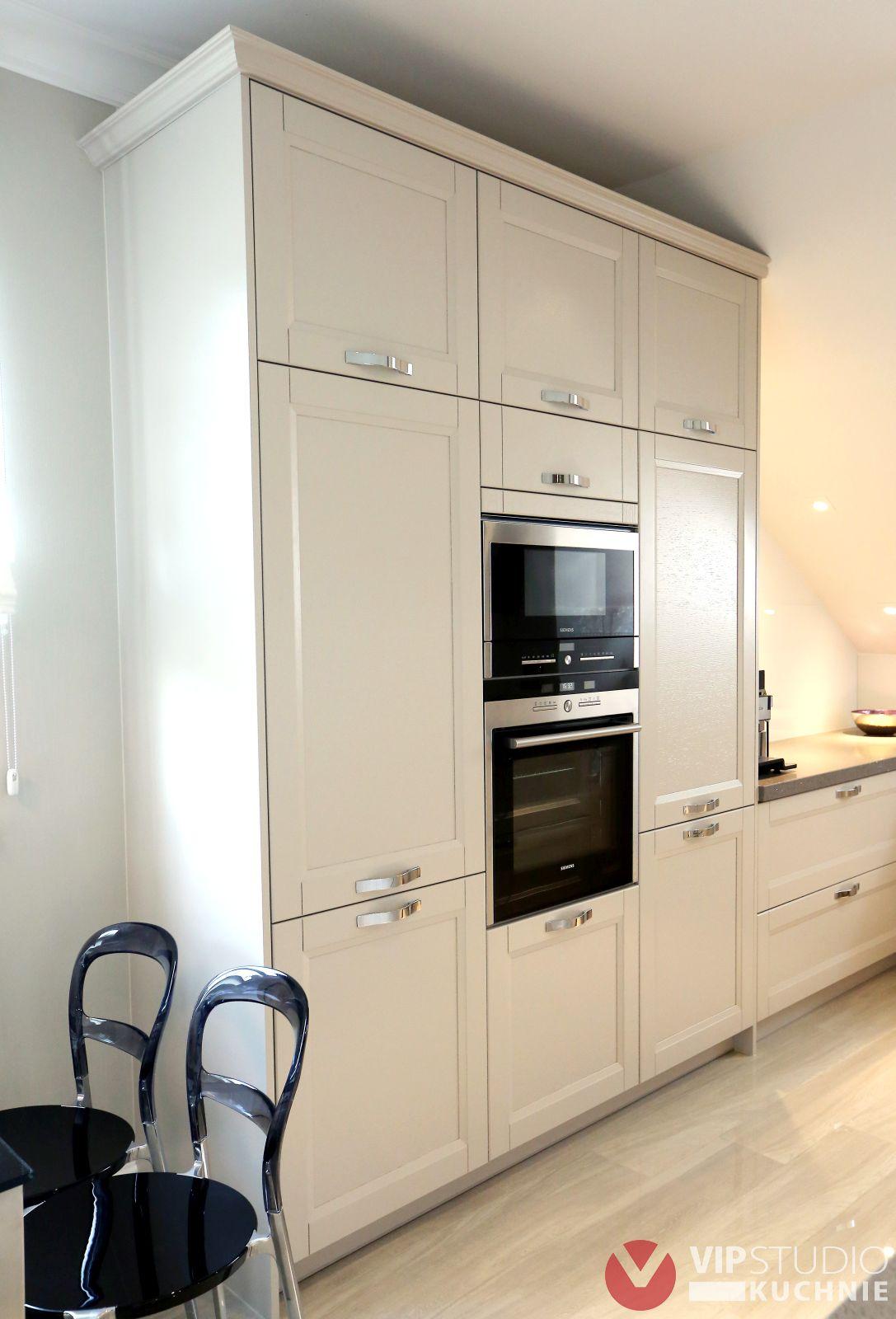 Meble kuchenne Szczecin  Klasyczna jasna kuchnia od VIP