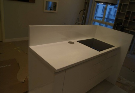Biało niebieska kuchnia od Nataly Design