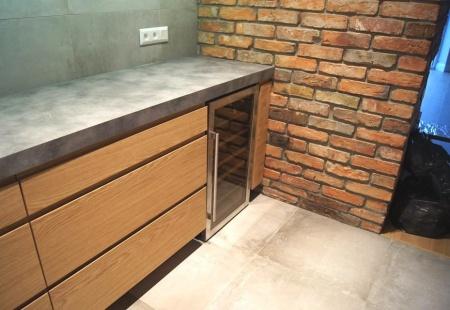 Dębowo betonowa kuchnia od Nataly Design
