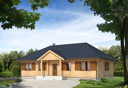 projekt domu borówka